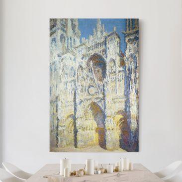 Produktfoto Leinwanddruck Claude Monet - Gemälde Portal der Kathedrale von Rouen mit Turm Saint-Romain in voller Sonne - Kunstdruck Hoch 3:2, vergrößerte Ansicht in Wohnambiente, Artikelnummer 206079-XWA