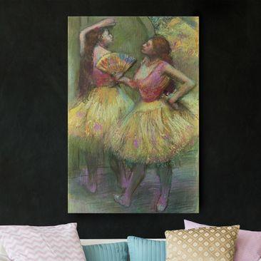 Produktfoto Leinwandbild - Edgar Degas - Zwei Tänzerinnen bevor sie auf die Bühne gehen - Hoch 3:2, vergrößerte Ansicht in Wohnambiente, Artikelnummer 206083-XWA
