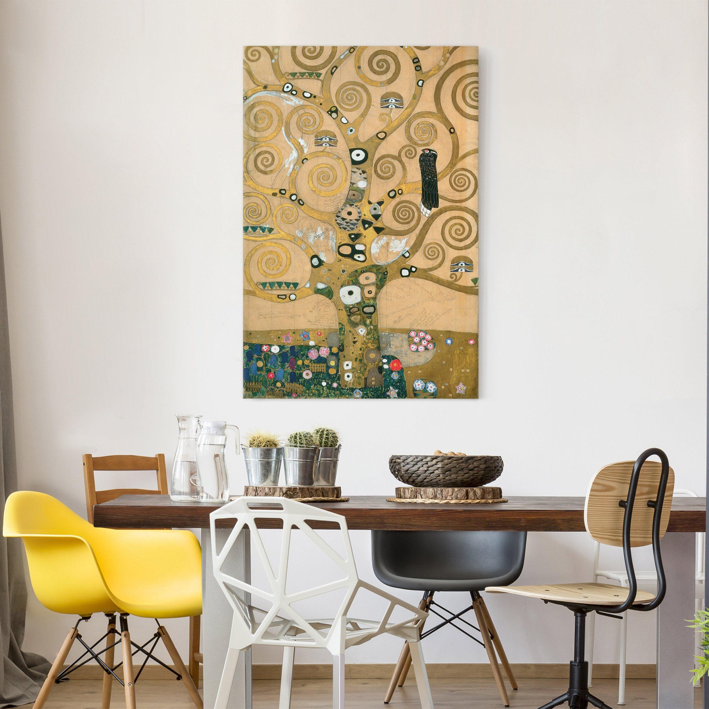 Leinwandbild Gustav Klimt - Kunstdruck Der Lebensbaum - Hoch 3:2 ...