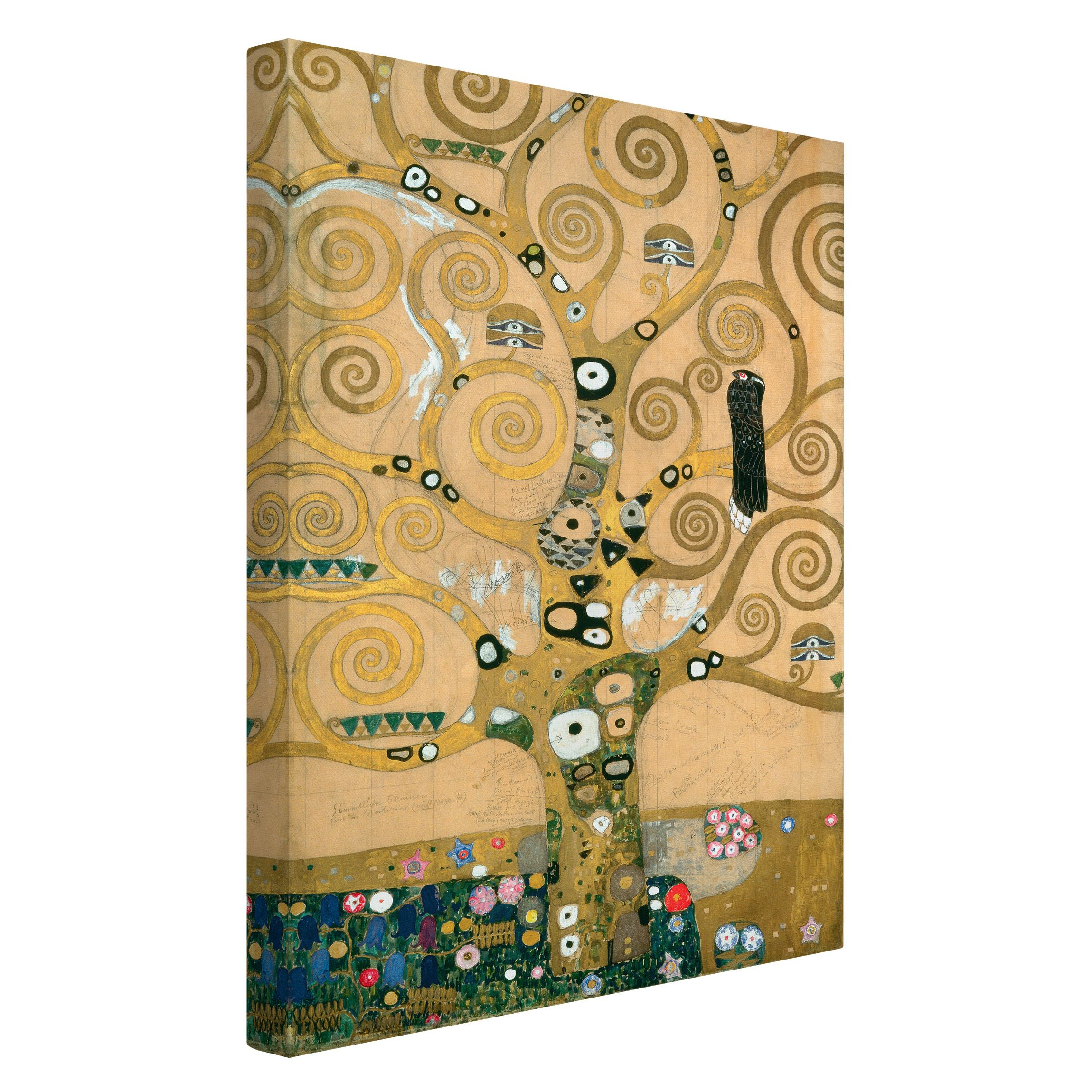 leinwandbild gustav klimt kunstdruck der lebensbaum hoch 3 2 jugendstil. Black Bedroom Furniture Sets. Home Design Ideas