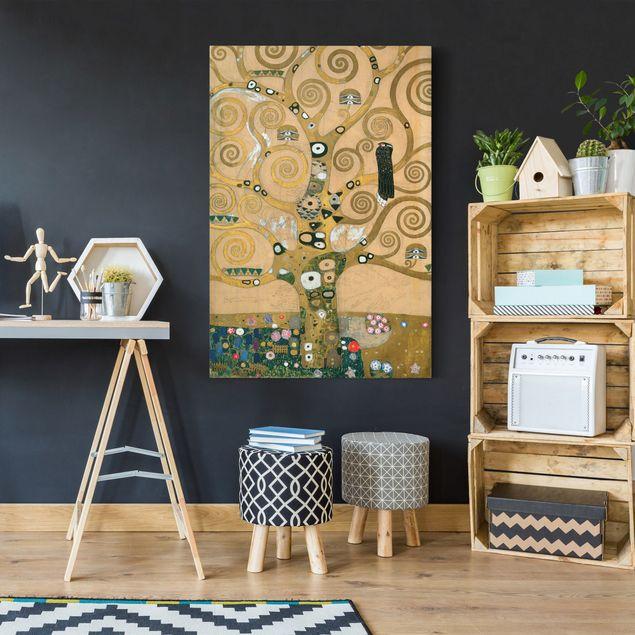 Produktfoto Leinwandbild Gustav Klimt - Kunstdruck Der Lebensbaum - Hoch 3:2 -Jugendstil, in Wohnambiente, Artikelnummer 206092-WA