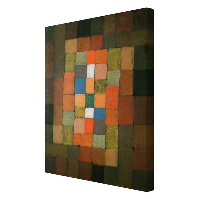 Produktfoto Leinwandbild - Paul Klee - Statisch-Dynamische Steigerung - Hoch 3:2, Spiegelkantendruck rechts, Artikelnummer 206109-FR