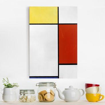 Produktfoto Leinwandbild - Piet Mondrian - Komposition I - Hoch 3:2, vergrößerte Ansicht in Wohnambiente, Artikelnummer 206113-XWA