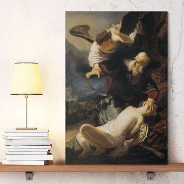 Immagine del prodotto Stampa su tela Rembrandt van Rijn - L'angelo impedisce il sacrificio di Isacco - Verticale 3:2