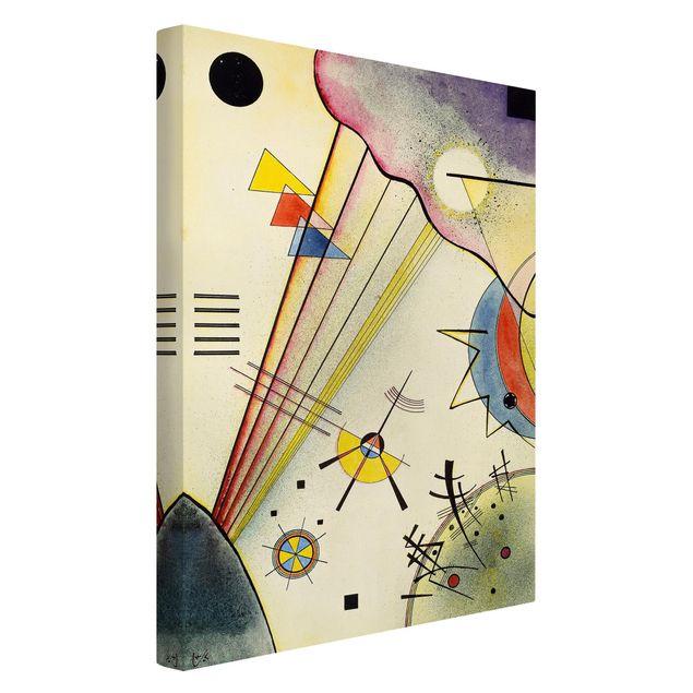 Produktfoto Leinwandbild - Wassily Kandinsky - Deutliche Verbindung - Hoch 3:2, Spiegelkantendruck links, Artikelnummer 206118-FL