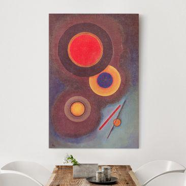 Produktfoto Leinwandbild - Wassily Kandinsky - Komposition mit Kreisen und Linien - Hoch 3:2, vergrößerte Ansicht in Wohnambiente, Artikelnummer 206120-XWA