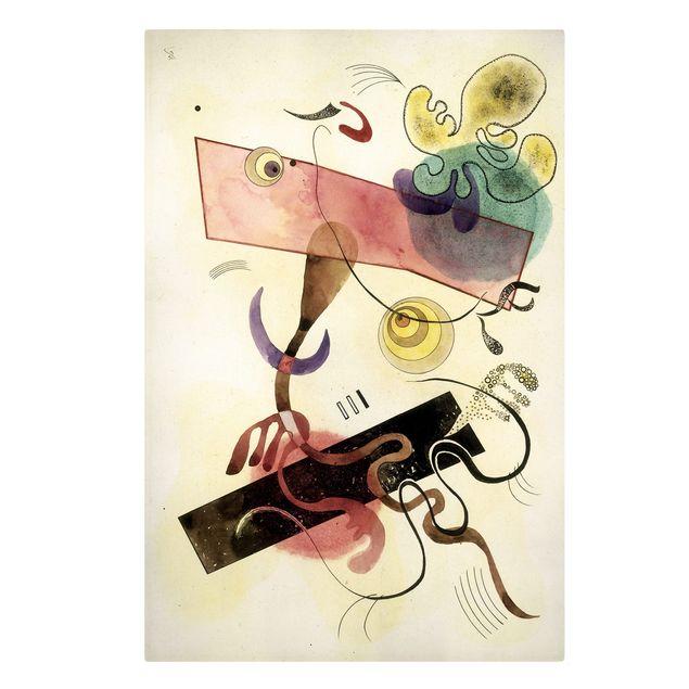 Produktfoto Leinwandbild - Wassily Kandinsky - Taches: Verte et Rose (Flecken: Grün und Rosa) - Hoch 3:2, Frontalansicht, Artikelnummer 206123-FF