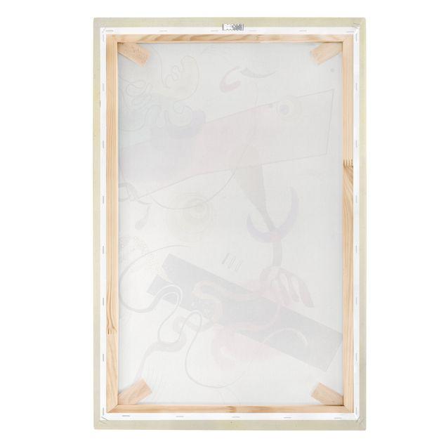 Produktfoto Leinwandbild - Wassily Kandinsky - Taches: Verte et Rose (Flecken: Grün und Rosa) - Hoch 3:2, Keilrahmen Rückseite, Artikelnummer 206123-FB