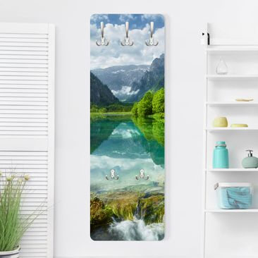 Immagine del prodotto Appendiabiti - Mountain lake with reflection - Slender 139x46x2cm