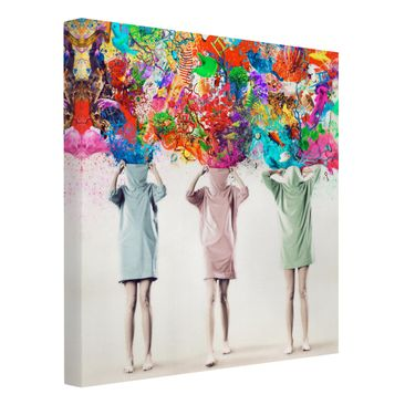 Product picture Canvas Art - Brain Explosions - Square...