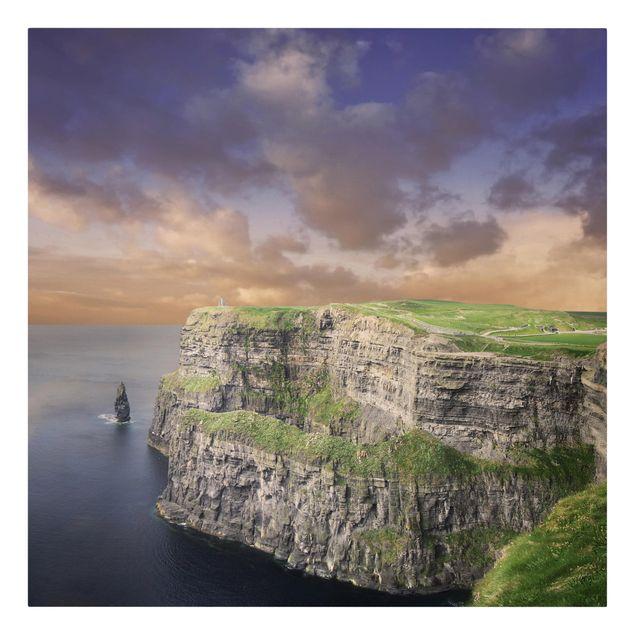 Produktfoto Leinwandbild - Cliffs Of Moher - Quadrat 1:1, Frontalansicht, Artikelnummer 206322-FF