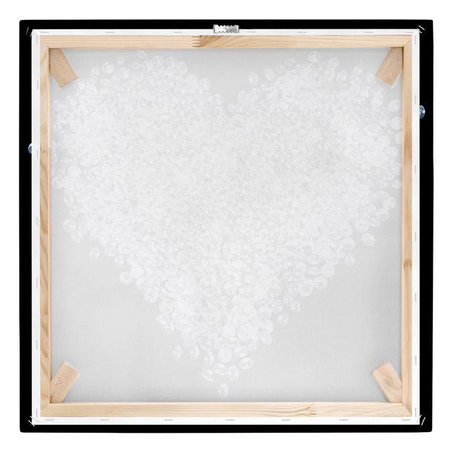 Produktfoto Leinwandbild - Diamant Herz - Quadrat 1:1, Keilrahmen Rückseite, Artikelnummer 206345-FB