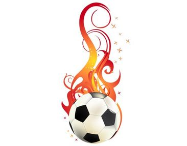 Product picture Window Sticker no.EG5 FOOTBALL ON FIRE