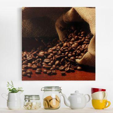 Produktfoto Leinwandbild - Dulcet Coffee - Quadrat...