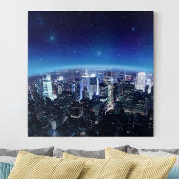 Produktfoto Leinwandbild - Illuminated New York -...