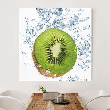 Produktfoto Leinwandbild - Kiwi Bubbles - Quadrat 1:1, vergrößerte Ansicht in Wohnambiente, Artikelnummer 206527-XWA