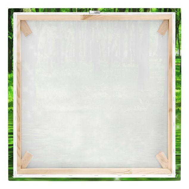 Produktfoto Leinwandbild - Morgenzauber - Quadrat 1:1, Keilrahmen Rückseite, Artikelnummer 206604-FB