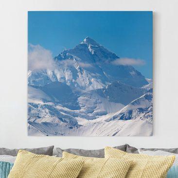 Produktfoto Leinwandbild - Mount Everest - Quadrat...