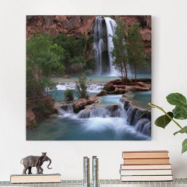 Produktfoto Leinwandbild - Nationalpark - Quadrat 1:1, vergrößerte Ansicht in Wohnambiente, Artikelnummer 206623-XWA