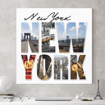 Produktfoto Leinwandbild - New York Impressionen - Quadrat 1:1, vergrößerte Ansicht in Wohnambiente, Artikelnummer 206629-XWA