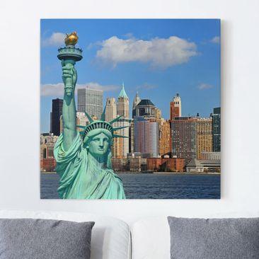 Immagine del prodotto Stampa su tela - New York Skyline - Quadrato 1:1
