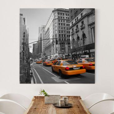 Produktfoto Leinwandbild Schwarz-Weiß - New York,...