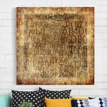 Immagine del prodotto Stampa su tela - Old Letters - Quadrato 1:1
