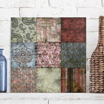 Produktfoto Leinwandbild - Old Patterns - Quadrat 1:1, vergrößerte Ansicht in Wohnambiente, Artikelnummer 206662-XWA