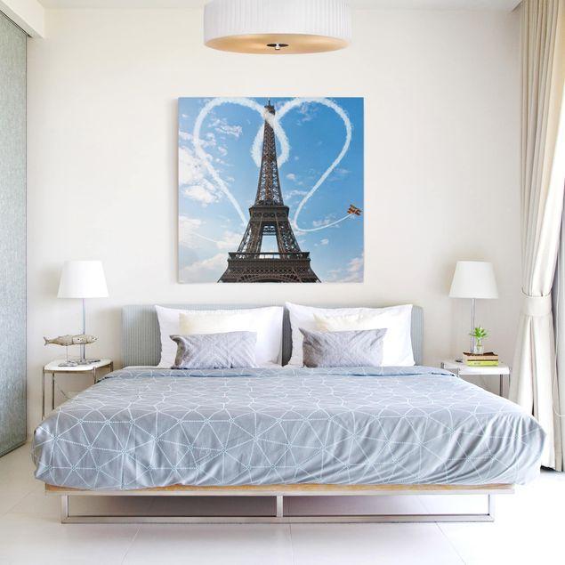 Produktfoto Leinwandbild - Paris - City of Love - Quadrat 1:1, in Wohnambiente, Artikelnummer 206675-WA