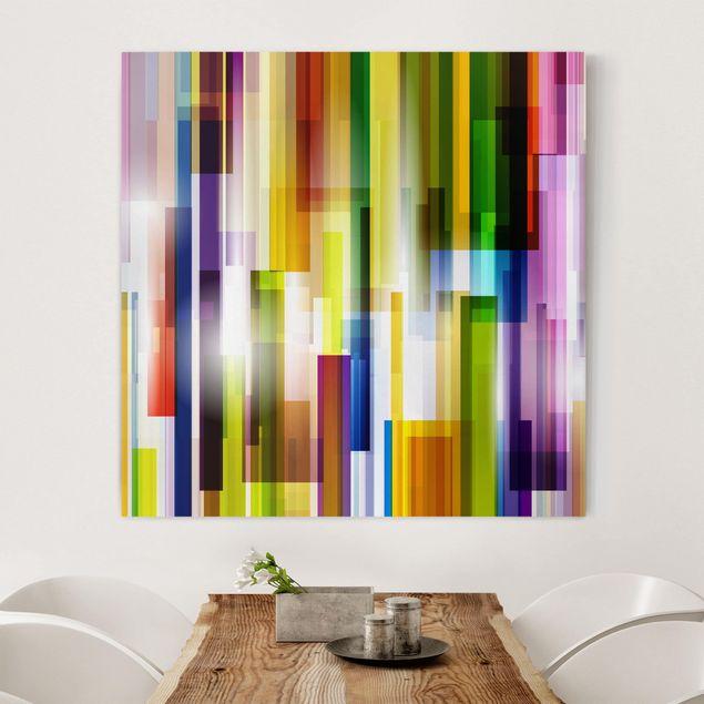Produktfoto Leinwandbild - Rainbow Cubes - Quadrat...