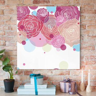 Produktfoto Leinwandbild - Roses and Bubbles -...