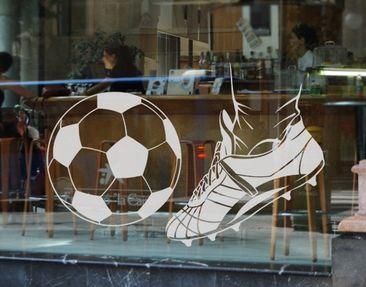 Produktfoto Fensterfolie - Fenstertattoo No.EG7 Kick 2 - Milchglasfolie