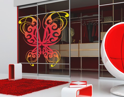 Produktfoto Fensterfolie - Fenstersticker No.JO73 Filigree Butterfly - Fensterbilder