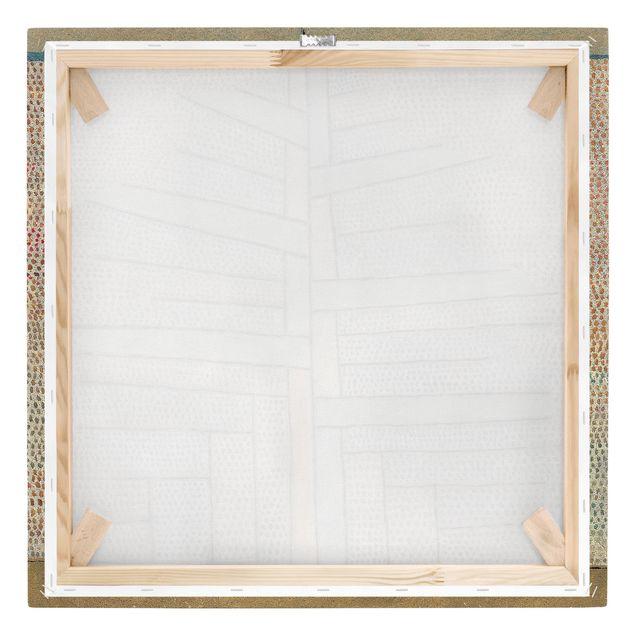 Produktfoto Leinwandbild - Paul Klee - Kiefer - Quadrat 1:1, Keilrahmen Rückseite, Artikelnummer 206967-FB