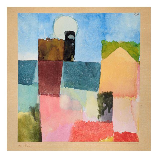 Produktfoto Leinwandbild - Paul Klee - Mondaufgang (St. Germain) - Quadrat 1:1, Frontalansicht, Artikelnummer 206968-FF
