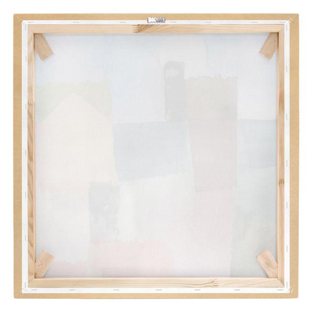 Produktfoto Leinwandbild - Paul Klee - Mondaufgang (St. Germain) - Quadrat 1:1, Keilrahmen Rückseite, Artikelnummer 206968-FB