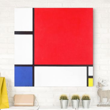 Immagine del prodotto Stampa su tela - Piet Mondrian - Composition with Red, Blue and Yellow - Quadrato 1:1