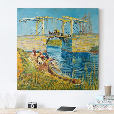 Immagine del prodotto Stampa su tela - Vincent van Gogh - The Drawbridge at Arles with a Group of Washerwomen - Quadrato 1:1