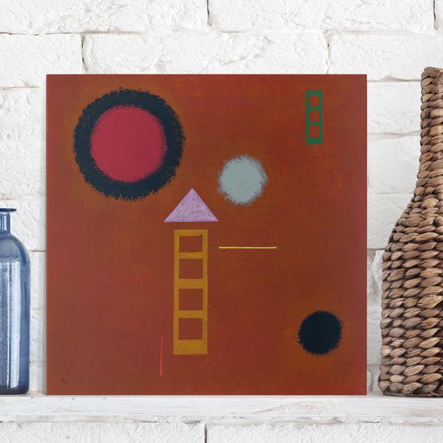 Produktfoto Leinwandbild - Wassily Kandinsky - Beruhigt - Quadrat 1:1, in Wohnambiente, Artikelnummer 206977-WA