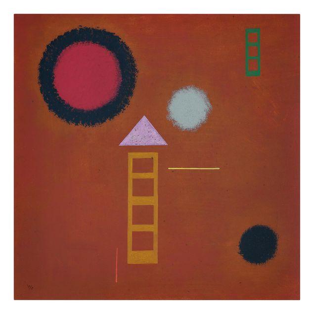 Produktfoto Leinwandbild - Wassily Kandinsky - Beruhigt - Quadrat 1:1, Frontalansicht, Artikelnummer 206977-FF