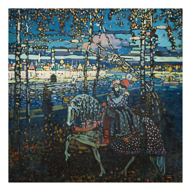 Produktfoto Leinwandbild - Wassily Kandinsky - Reitendes Paar - Quadrat 1:1, Frontalansicht, Artikelnummer 206979-FF