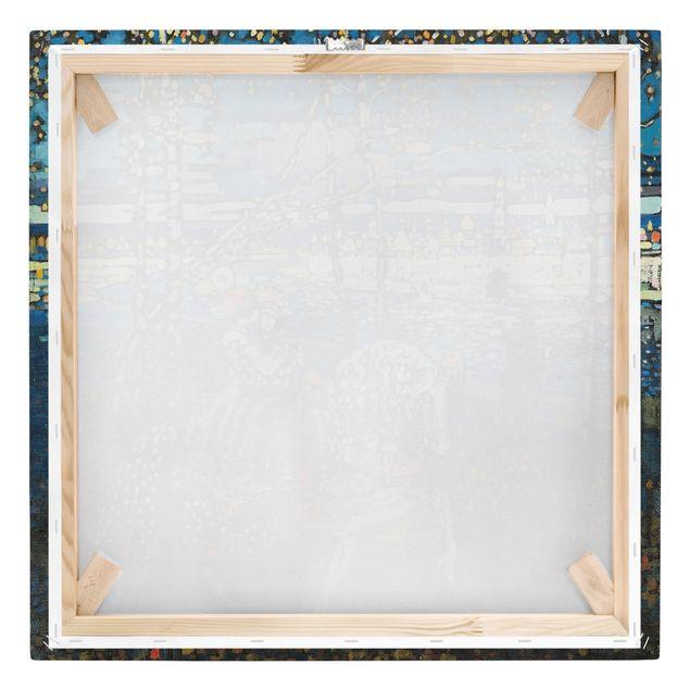 Produktfoto Leinwandbild - Wassily Kandinsky - Reitendes Paar - Quadrat 1:1, Keilrahmen Rückseite, Artikelnummer 206979-FB