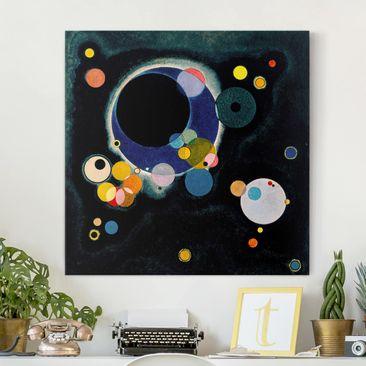 Produktfoto Leinwandbild - Wassily Kandinsky - Skizze für 'Einige Kreise' - Quadrat 1:1, vergrößerte Ansicht in Wohnambiente, Artikelnummer 206980-XWA