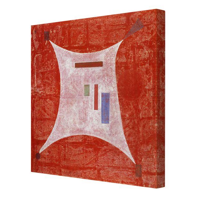 Produktfoto Leinwandbild - Wassily Kandinsky - In die vier Ecken - Quadrat 1:1, Spiegelkantendruck rechts, Artikelnummer 206981-FR
