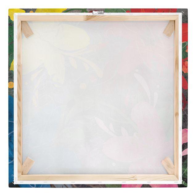 Produktfoto Leinwandbild - No.BP21 Lilientraum - Quadrat 1:1, Keilrahmen Rückseite, Artikelnummer 206984-FB