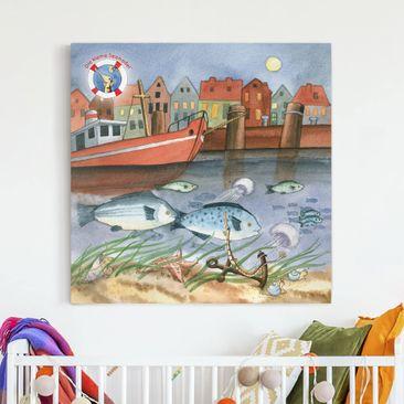 Produktfoto Leinwandbild - Die kleine Seenadel© Hafen - Quadrat 1:1, vergrößerte Ansicht in Wohnambiente, Artikelnummer 207002-XWA