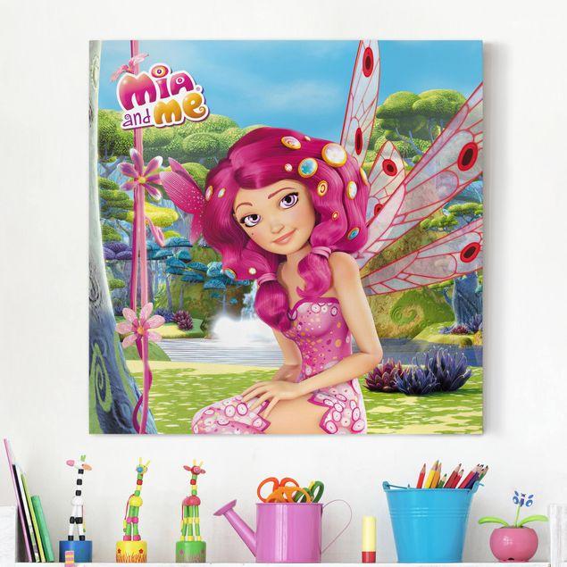 Produktfoto Leinwandbild - Mia and me - Mias Paradies - Quadrat 1:1, vergrößerte Ansicht in Wohnambiente, Artikelnummer 207015-XWA