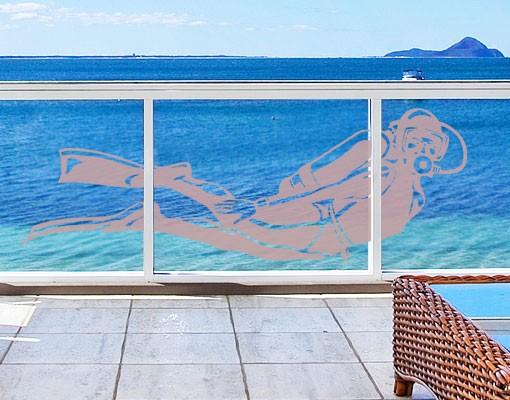 Produktfoto Fensterfolie - Fenstertattoo No.EG8 Taucher - Milchglasfolie