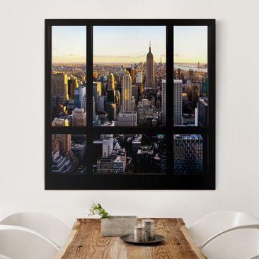 Produktfoto Leinwandbild - Fensterblick am Abend...