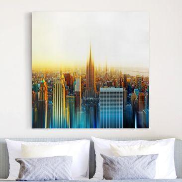 Produktfoto Leinwandbild - Manhattan Abstrakt -...